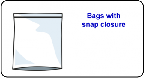 Bags with snap closure