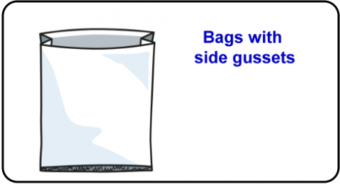 Bags with side gussets