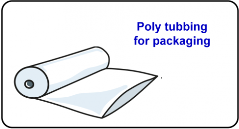 Poly tubbing for packaging